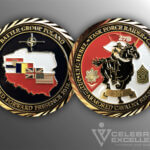 Celebrate Excellence Battle Group Poland Task Force Raiders Challenge Coin