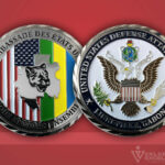 Celebrate Excellence Liberville Gabon US Defense Attache Office Challenge Coin