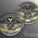 Celebrate Excellence USAF Flight Engineer Challenge Coin
