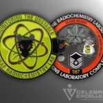 Celebrate Excellence USAF Radiochemistry Lab Challenge Coin
