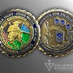 Celebrate Excellence War Fighter - State Militia Challenge Coin