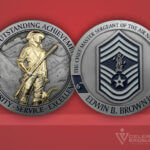 Challenge Coin Air National Guard Chief Ed Brown